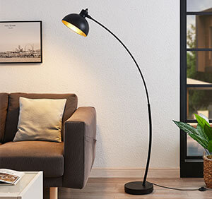 Bogenstehlampe Phileas